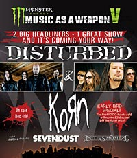 Korn and Disturbed Co-Headline Music As A Weapon V Tour