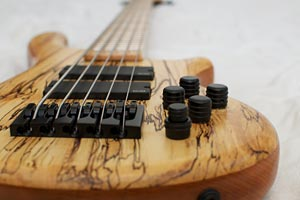 JC Basses Spalted Maple Fretted