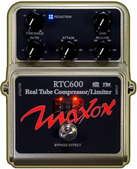 Maxon Introduces RTC600 Real Tube Compressor Pedal