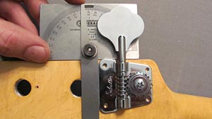 Upgrading Your Tuners: Measuring with a Protractor