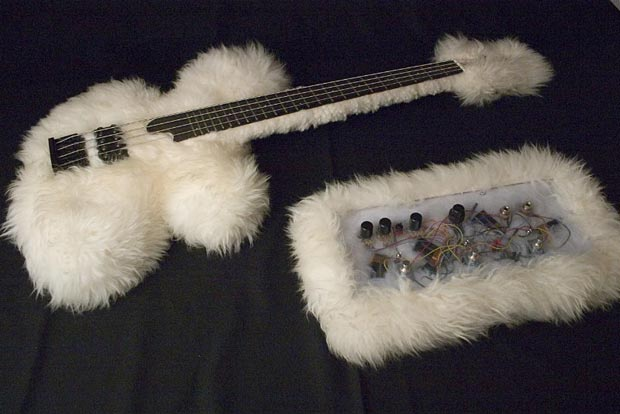 Bas-Extravaganza Fluffy Bass with Stompbox Prototype