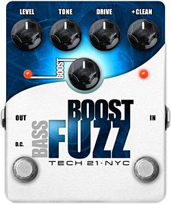 Tech 21 Bass Boost Fuzz Pedal