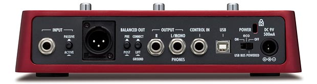 Zoom B3 Bass Effects and Amp Simulator Pedal - back panel