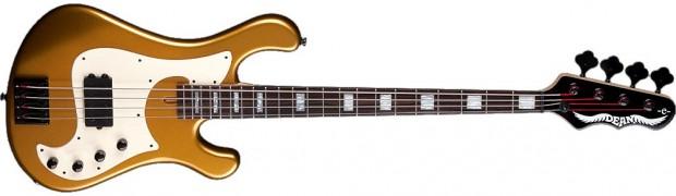 Dean Eric Bass Signature Hillsboro Metallic Gold Bass