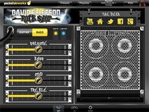 David Ellefson Rock Shop App - amp settings