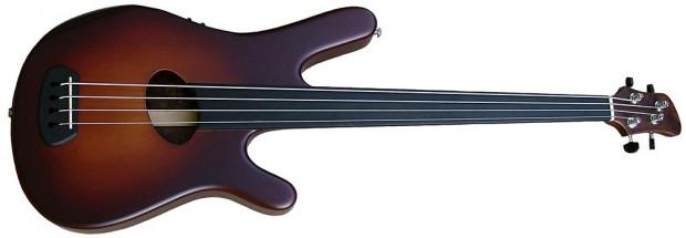 Kinal Guitars Kompact-4 fretless walnut