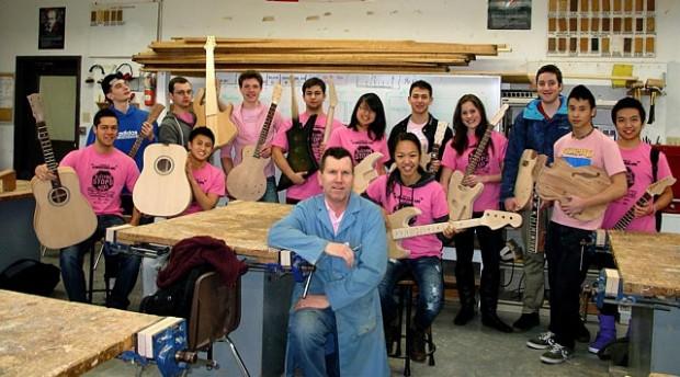 Michael Kinal with High School Class