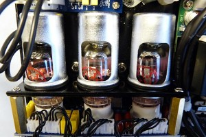 Gallien-Krueger MB Fusion 800 Bass Amp tubes - close-up