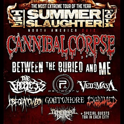 Summer Slaughter Tour Dates Announced; Headlined by Cannibal Corpse