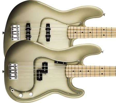 Fender Introduces Factory Special Run Antigua Jazz and Precision Basses