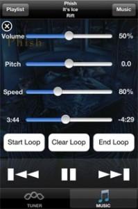 Pocketlabworks PocketHz SongTrainer screen