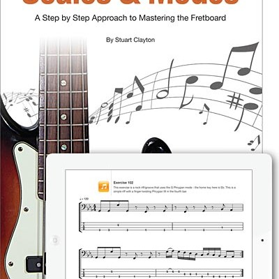 """Stuart Clayton Releases """"The Bass Player's Guide to Scales & Modes"""" in iBook Format"""
