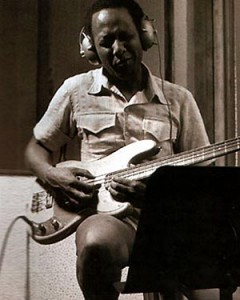 Chuck Rainey in the studio
