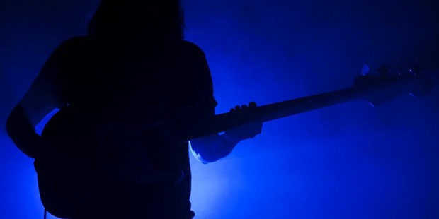 Bassist in the shadows