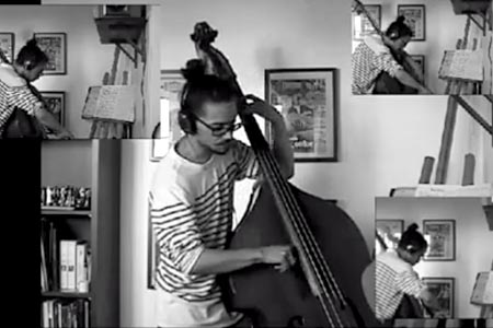 """Mathieu Verlot: """"Little Wing"""" Live Double Bass Arrangement"""