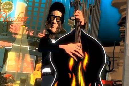 """Lee Rocker: """"Rockabilly Boogie"""" Animated Video"""