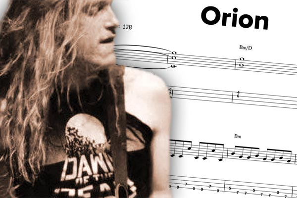 "Transcription: Cliff Burton's ""Orion"""