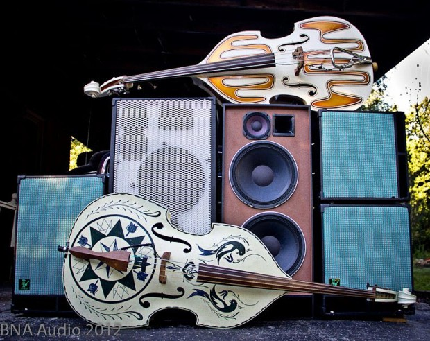 BNA Audio Bass Cabinets with upright basses