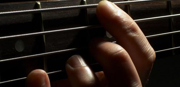 Bassist's left hand