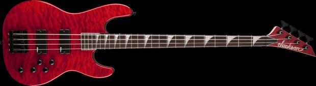 Jackson JS3QM Concert Bass 4-string Transparent Red