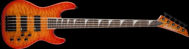 Jackson JS3VQM Concert Bass 5-string Transparent Amber