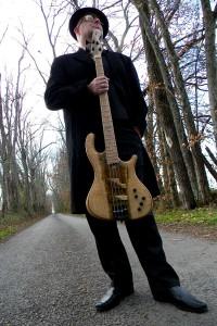 Sean O'Bryan Smith with his Rybski Signature Bass