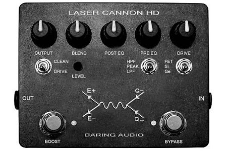 Daring Audio Introduces Laser Cannon HD Bass Distortion Pedal