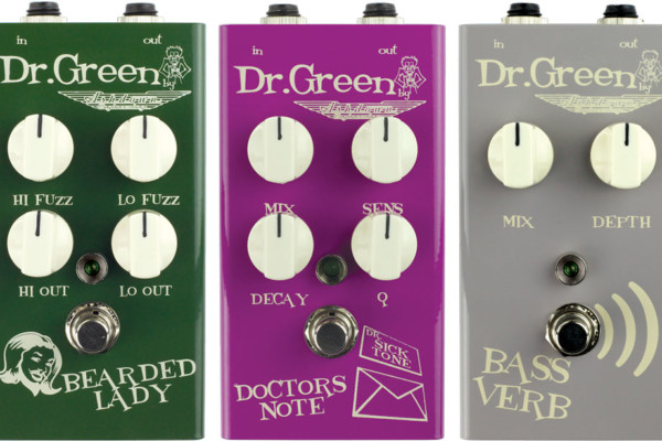 Ashdown Introduces Dr. Green Series Bass Effects Pedals