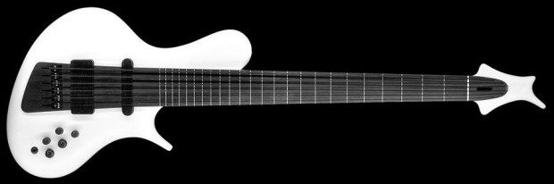 Ritter R8-Concept Fretless Bass - Pure White Carrara Frosted (front)