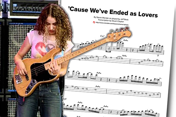 """Bass Transcription: Tal Wilkenfeld's """"Cause We've Ended As Lovers"""" Solo"""