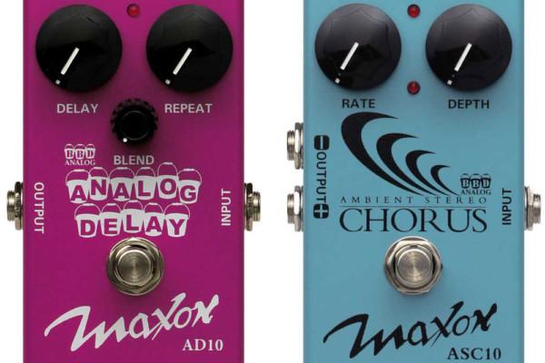 Godlyke Announces Maxon AD10 Analog Delay and ASC10 Stereo Chorus Pedals