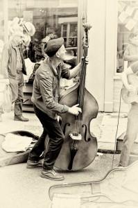 Busker Bassist