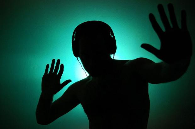 Dancing with headphones