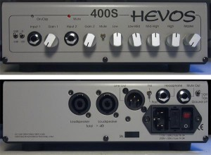 Hevos 400S Compact Bass Amplifier - front & back