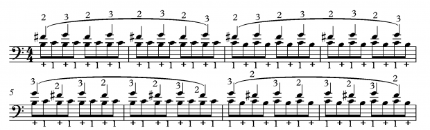 Double Trill Exercise for Bass