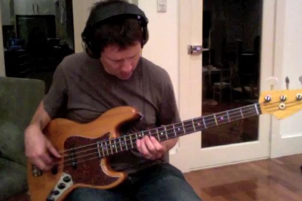 "Matt Gruebner: ""Hey Jude"" Solo Bass Performance"