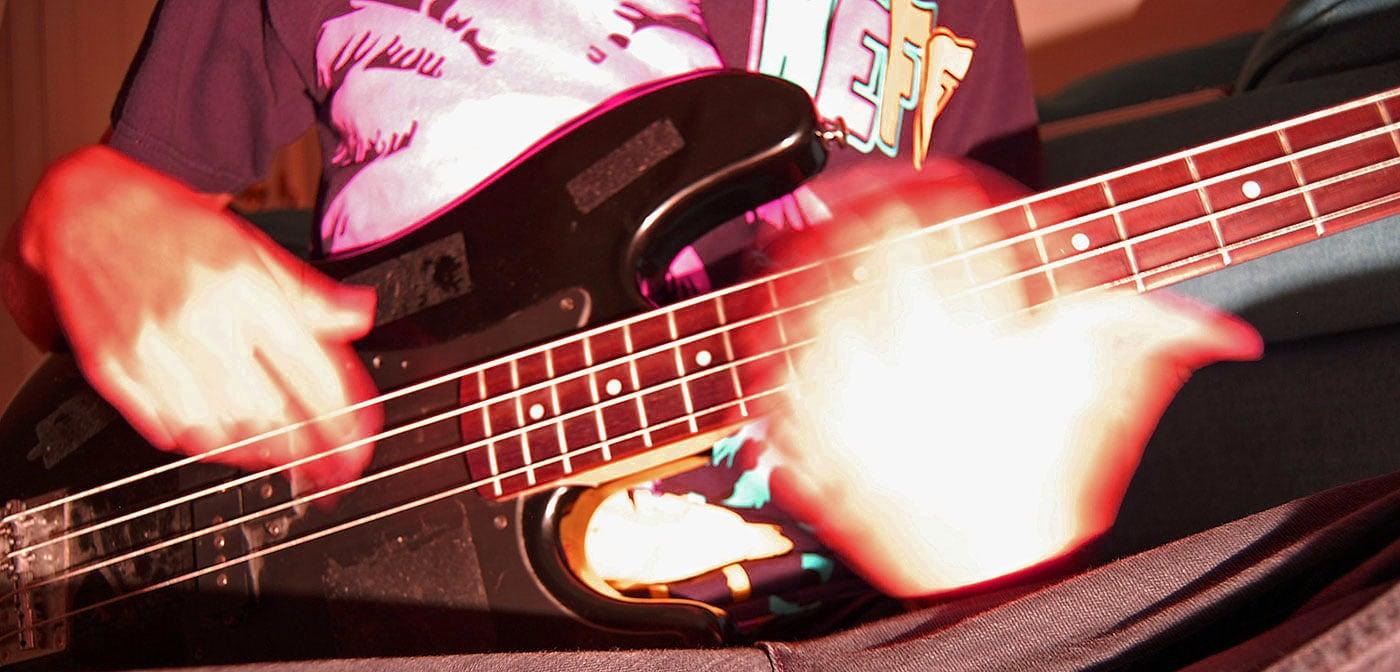 Bassist Improvising