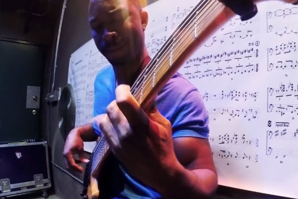 """Anthony Crawford: Bass Solo on Virgil Donati's """"Eleven"""""""