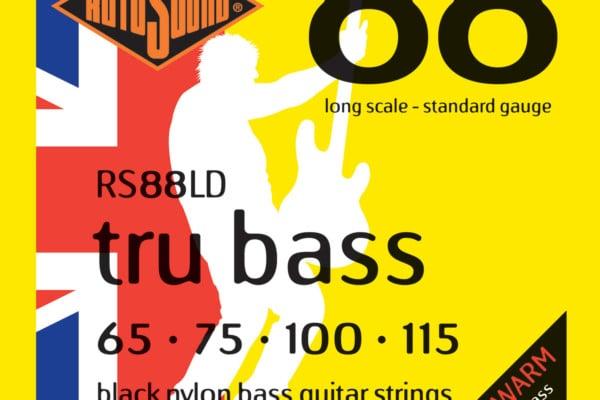 Rotosound Revamps Tru Bass RS88LD Black Nylon Bass Strings