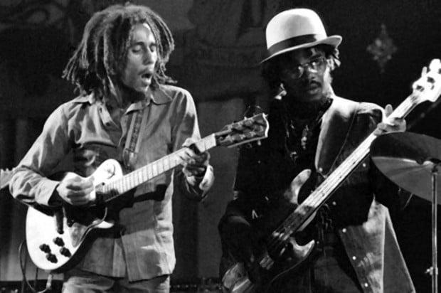 Bob Marley and Aston Barrett