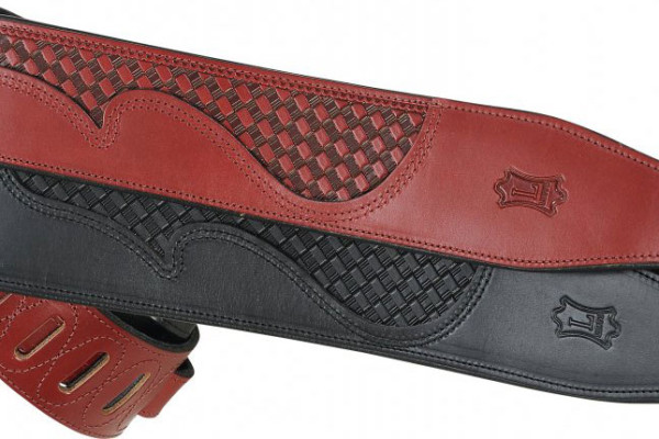Levy's Leathers Announces Basket Weave Carving Leather Bass Straps