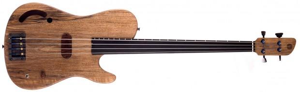 Tomisic Guitars MIA Fretless Bass - front