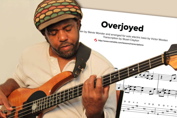 """Bass Transcription: """"Overjoyed"""" by Victor Wooten"""
