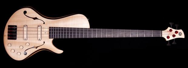 Turan Guitars TG Semi-Hollow Bass