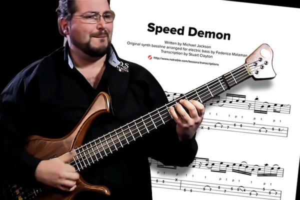 "Bass Transcription: Federico Malaman's ""Speed Demon"""