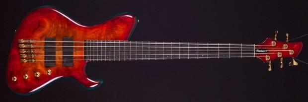 Rikkers Guitars Hollowline Bass Red