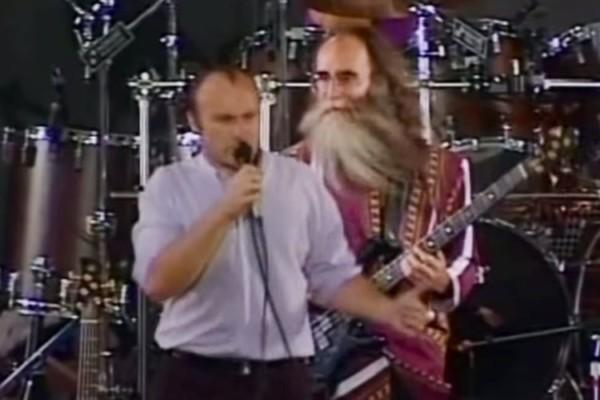 Phil Collins, with Leland Sklar: Sussudio, Live 1990