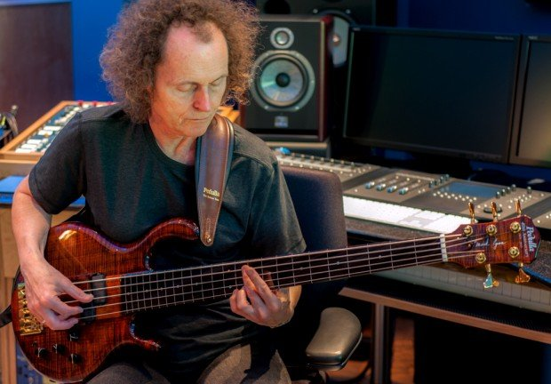 Mark Egan with Pedulla Signature Model Anniversary Edition Bass