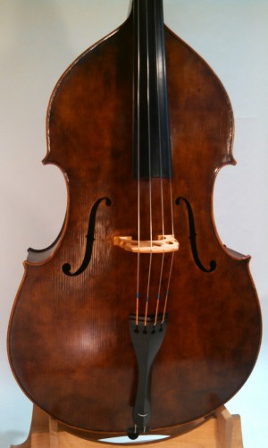 Nick Lloyd Basses Standard Model 3/4 Size Walnut Flatback Bass - Body