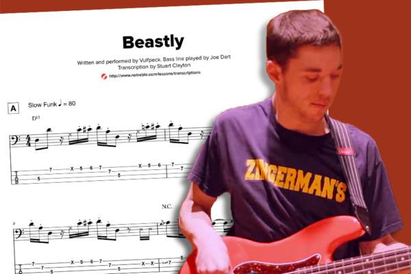 "Bass Transcription: Joe Dart's Bass Line on Vulfpeck's ""Beastly"""